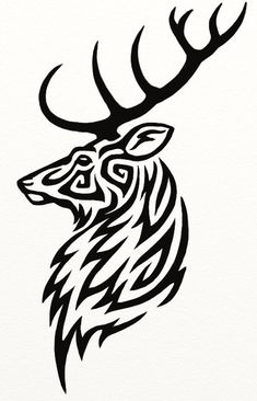 Stag Tattoo by Hareguizer on DeviantArt