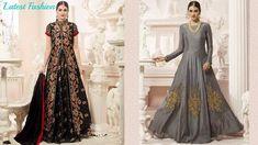 Latest Designer Silk Lehenga Style Anarkali Suit Collection 2018