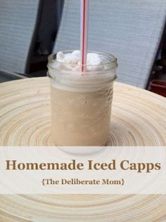 A fabulous, easy-to-make, copycat Tim Horton's Iced Capp knock off recipe! Cold, refreshing, and delicious! Plus it's a lot cheaper to make than the original version!