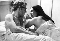 """Woody Allen + Janet Margolin in """"Take the Money and Run,"""" 1969."""