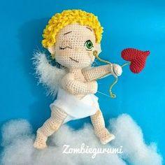Crochet Gratis, Cute Crochet, Cute Little Baby, Little Babies, Bow Pattern, Free Pattern, Valentine Cupid, Valentines, Crochet Designs