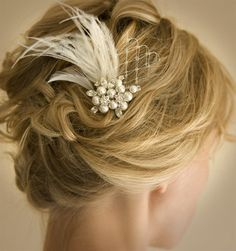 Vintage Wedding Hair Comb Bridal Hair Comb by LottieDaDesigns, $52.00 @Colleen Sweeney Williams