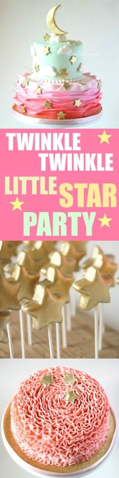 Twinkle Twinkle Little Star Party: Kuchen, Smash Cake und Cake Pops - Beautiful Cakes & Cupcakes - Smash Cake Girl, 1st Birthday Cake Smash, Baby Girl Cakes, Cool Birthday Cakes, Birthday Cake Girls, Cake Baby, 2nd Birthday, Baby Boy, Star Wars Party