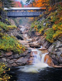 Sentinal Pine Bridge, White Mountains National Forest, New Hampshire   While staying at Mill Falls at the Lake