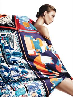 Influence and Stardoll: ♥♥♥ Karlie Kloss in Hermes for Harper's Bazaar Spain April 2013 by David Sims