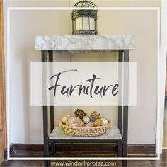 Transform A Small, Sad Side Table Into An Industrial, Metal And Marble Accent Piece With Spray Paint And Contact Paper!