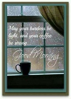"""Good Morning! Cold,rainy morning here. """" ...Behind the clouds is the sun still shining, Thy fate is the common fate of all, into each life, some rain must fall.."""" - HenryWadsworthLongfellow. Enjoy your day, the sun is always shining...:"""