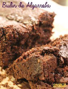 Budin Vegano de Algarroba con Almendras y chips de Chocolate