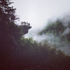 This looks absolutely amazing. I want to be in the group of people standing on the overhang. What an adventure!
