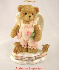 Cherished Teddies Mackensie Rose Little Angels Series Girl With Rose 110011 MIB