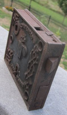 Antique Door Lock Ornate Cast Iron 149 years Old by LeftoverStuff, $25.00