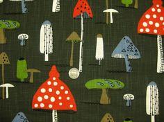 mushroom print fabric of unknown origin
