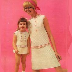 mum daughter crochet dresses