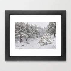 Snowfall Framed Art Print by Guido Montañés - $37.00