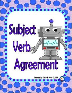 Subject Verb Agreement Center Activity for small groups or independent work during guided reading. Students read a sentence and decide if the subject and the verb agree. They record the answer and then correct a few of the sentences that do not agree.Title page/Anchor Chart2 Task Pages*Recording sheetAnswer key*No more lost or loose task cards.