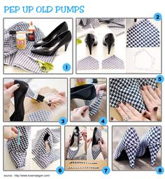 #pumps #houndstooth #textile #fabric #makeover #newlook #footwear