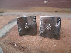 Vintage Sterling Silver Fleur De Lis Cufflinks by TreeTownPaper, $28.00