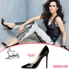 Kristen Wiig is featured in the August 2012 issue of Marie Claire wearing Christian Louboutin black patent leather Pigalle pumps.  continue reading →
