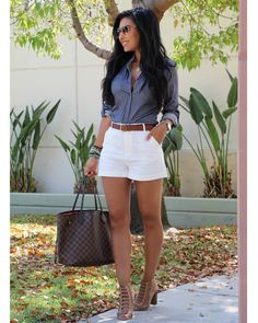 Popular Summer Outfits That Always Looks Fantastic Casual Summer Outfits, Short Outfits, Classy Outfits, Chic Outfits, Spring Outfits, Fashion Outfits, Womens Fashion, Fashion Hair, Ladies Fashion