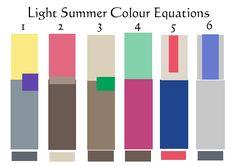 light sumer colour equations