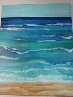 Seascape Original painting Ocean ART Vertical by SharonFosterArt, $100.00