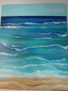 Seascape Original painting Ocean ART Vertical by SharonFosterArt, $100.00
