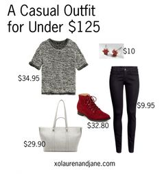 A Casual Outfit for Under $125 - xo, lauren and jane