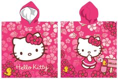 Poncho de bain avec capuche Hello Kitty
