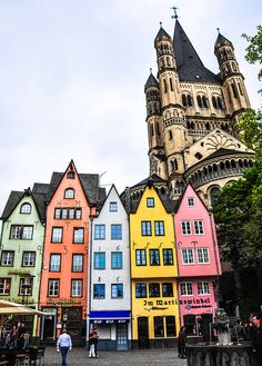 Groß Sankt Martin and Altstadt in Cologne Germany by mbell1975, via Flickr
