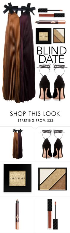 """""""Dress to Impress: Blind Date"""" by amchavesj-1 ❤ liked on Polyvore featuring Roksanda, Valentino, Bobbi Brown Cosmetics, Elizabeth Arden, Charlotte Tilbury, Gucci and blinddate"""