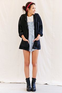 Urban Renewal Remade Short Linen Shop Coat - Urban Outfitters
