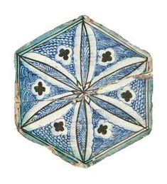 A Mamluk hexagonal tile Egypt or Syria 15 th Century Christie´s