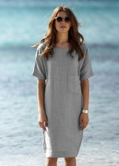 Explore the latest collection of Linen Dresses Modern in different colors and styles which simply defines your look and gives you a better fashion statement. Backless Maxi Dresses, Linen Dresses, Maxi Dress With Sleeves, Sexy Dresses, Dress Skirt, Fashion Dresses, Short Sleeve Dresses, Casual Dresses, Short Beach Dresses