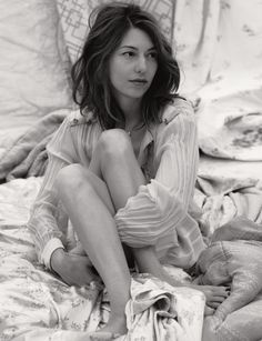 Sofia Coppola // I wouldn't mind if my hair looked like this everyday. I love her effortless style.