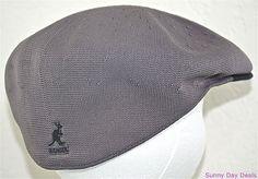 fc9b6fc4cf1 Kangol Cap Mens Two Tone Recycled Tropic 504 Hat Sloped K0874CO Charcoal  Gray L