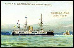 "https://flic.kr/p/8VjyoD | French Tradecard - Brazilian Warship, ""Riachuelo"" 