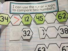 62 Greater Than Less Than Ideas 1st Grade Math First Grade Math Teaching Math