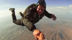 stock photo, sport, extreme-sports, lifestyle, jump, guy, happy, skydiving, free-fall, handshake, buddy