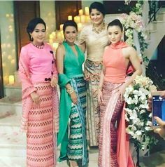 Myanmar Traditional Dress, Traditional Dresses, Filipiniana, Burmese, Sari, Costumes, Clothing, Fashion, Saree