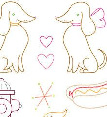 DARLING DACHSHUNDS - Embroidery Patterns