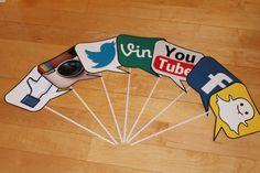 Facebook Vine Twitter Instragram Social Media by detaillicious