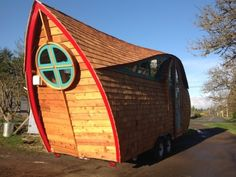 Tiny House, Meet Roving Caravan: Olympia's Zyl Vardos - Taking design inspiration from drops of dew, fortune cookies and Noah's ark, carpenter Abel Zimmerman Zyl pounds artistic whimsy into every inch of his tiny house caravans.