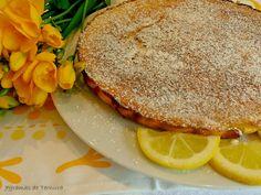 Queijada de Limão | 7gramas de ternura Portuguese Desserts, Portuguese Recipes, Portuguese Food, Quiche, Cantaloupe, Sandwiches, Sweets, Bread, Baking