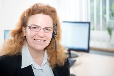 Tatjana Luther - unsere Telefonstimme, immer einen flotten Spruch auf den Lippen