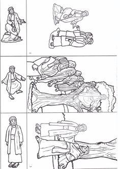 zacchaeus                                                                                                                                                                                 More Sunday School Activities, Bible Activities, Sunday School Lessons, Sunday School Crafts, School Fun, Bible Story Crafts, Bible Crafts For Kids, Bible Cartoon, Toddler Bible