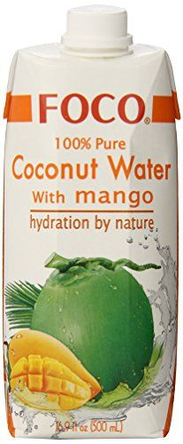 FOCO Pure Coconut Water with Mango, 16.9 Ounce (Pack of 12) *** Check this awesome product by going to the link at the image.  This link participates in Amazon Service LLC Associates Program, a program designed to let participant earn advertising fees by advertising and linking to Amazon.com.