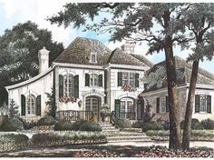 Eplans Chateau House Plan - Elegance Of The Namesake of French Castles - 3378 Square Feet and 4 Bedrooms from Eplans - House Plan Code HWEPL02646