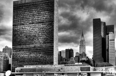 United Nations Building and Chrysler Building   NEW YORK PHOTO STORE