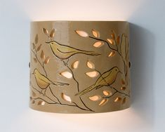 FREE SHIPPING  Ceramic wall lamp Hand Painted от CeramicART4U