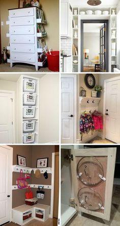 45 Trendy Ideas Diy Home Decor Small Spaces Closet Storage Small Closet Space, Small Space Bedroom, Small Space Storage, Small Space Organization, Small Space Living, Small Rooms, Storage Spaces, Tiny Closet, Bathroom Organization